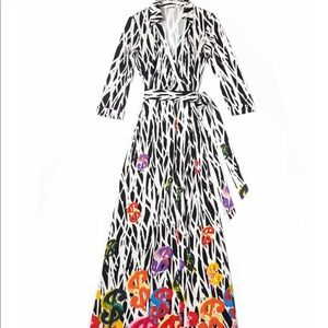 RARE DVF x Andy Warhol Limited Edition Maxi Dress